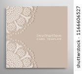 invitation or card template... | Shutterstock .eps vector #1166606527