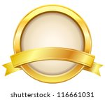 gold label with ribbon | Shutterstock .eps vector #116661031