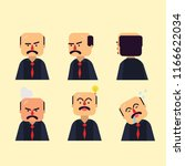 six expression the boss with... | Shutterstock .eps vector #1166622034