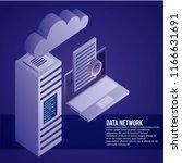 data network card | Shutterstock .eps vector #1166631691