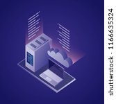 data network card | Shutterstock .eps vector #1166635324