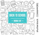 back to school traditional... | Shutterstock .eps vector #1166644381
