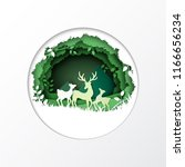 nature concept with ecology and ... | Shutterstock .eps vector #1166656234