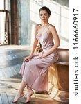 young sexy elegant beautiful... | Shutterstock . vector #1166660917
