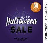halloween sale vector banner... | Shutterstock .eps vector #1166664517