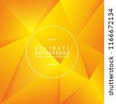 abstract orange polygon vector... | Shutterstock .eps vector #1166672134