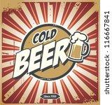 vintage beer poster | Shutterstock .eps vector #116667841