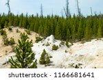 an extinct geyser cone in...   Shutterstock . vector #1166681641