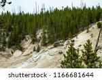 an extinct geyser cone in...   Shutterstock . vector #1166681644
