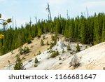 an extinct geyser cone in...   Shutterstock . vector #1166681647