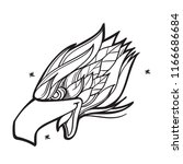 head of an eagle with an open...   Shutterstock .eps vector #1166686684