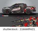 truck wrap design vector.... | Shutterstock .eps vector #1166689621