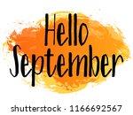 brown and orange hello... | Shutterstock .eps vector #1166692567