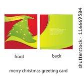 vector merry christmas greeting ... | Shutterstock .eps vector #116669584