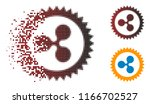 ripple insignia stamp icon in... | Shutterstock .eps vector #1166702527