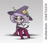 cute witch character. ... | Shutterstock .eps vector #1166712214