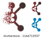 ripple connect nodes icon in... | Shutterstock .eps vector #1166713537