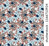 stock vector flowers pattern | Shutterstock .eps vector #1166713924