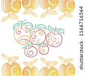 beautiful apples. vector... | Shutterstock .eps vector #1166716564