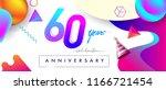 60th years anniversary logo ... | Shutterstock .eps vector #1166721454