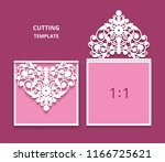 wedding invitation card with... | Shutterstock .eps vector #1166725621