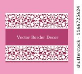 vector frame with border lace... | Shutterstock .eps vector #1166725624