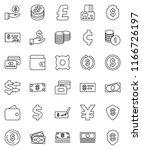 thin line vector icon set  ...   Shutterstock .eps vector #1166726197