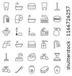 thin line vector icon set  ... | Shutterstock .eps vector #1166726257