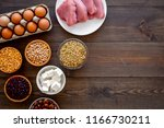 healthy food. products rich... | Shutterstock . vector #1166730211