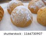 donut shop in departmert store.   Shutterstock . vector #1166730907