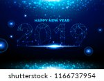happy new year 2019 background... | Shutterstock .eps vector #1166737954