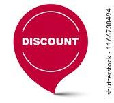 red vector banner discount   Shutterstock .eps vector #1166738494