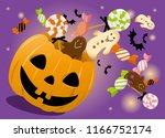 halloween candy box | Shutterstock .eps vector #1166752174