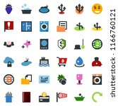 colored vector icon set   berry ... | Shutterstock .eps vector #1166760121