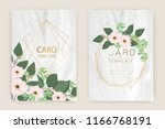 marble wedding card template... | Shutterstock .eps vector #1166768191