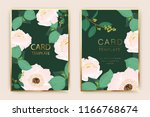 wedding card template with... | Shutterstock .eps vector #1166768674