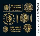 set of brewery illustration... | Shutterstock .eps vector #1166770384