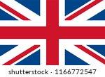 united kingdom flag. flag of... | Shutterstock .eps vector #1166772547
