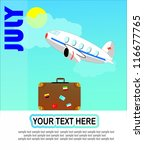 july vector design with an... | Shutterstock .eps vector #116677765