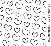 line nice heart love symbol... | Shutterstock .eps vector #1166780494