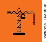 icon of crane. orange... | Shutterstock .eps vector #1166781001