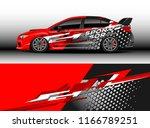 car decal wrap design vector.... | Shutterstock .eps vector #1166789251