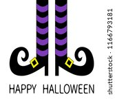witch legs with violet striped... | Shutterstock . vector #1166793181