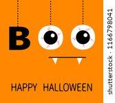 happy halloween. hanging word... | Shutterstock .eps vector #1166798041