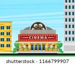cinema building flat style.... | Shutterstock .eps vector #1166799907