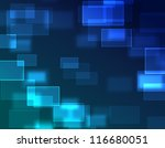 blue abstract square - stock photo