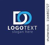 do initial letter abstract logo ...   Shutterstock .eps vector #1166802727