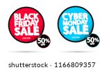 black friday sale and cyber... | Shutterstock .eps vector #1166809357