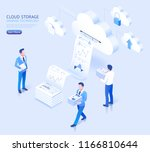 cloud storage sharing... | Shutterstock .eps vector #1166810644