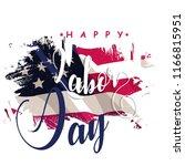 happy labor day text  vector... | Shutterstock .eps vector #1166815951